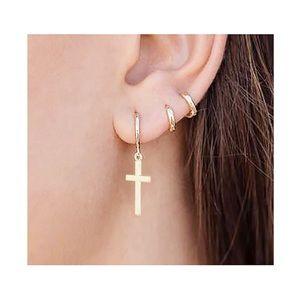 NWT Cross Earrings Jewelry Crucifix Charm Gift